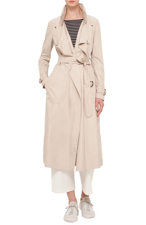 Trench Coat by Akris Punto in Keeping Up With The Kardashians - Season 11 Episode 6