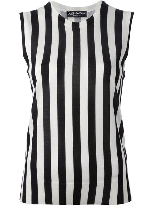 Striped Tank Top by Dolce & Gabanna in Quantico - Season 1 Episode 7