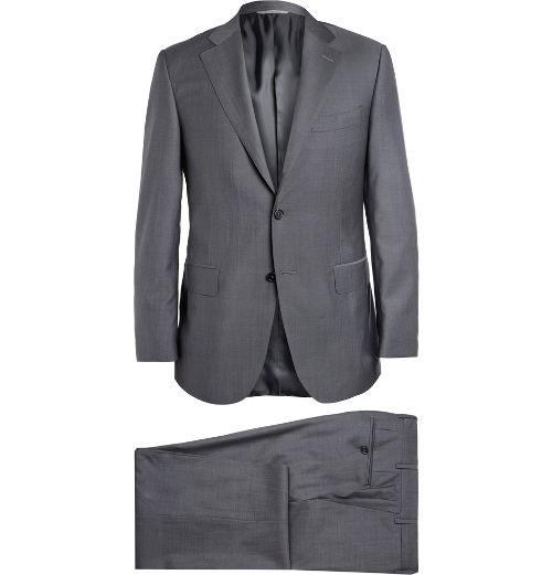 Grey Super 130S Wool Suit by Canali in Man of Tai Chi