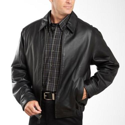 Leather Bomber Jacket by St. John's Bay in Limitless