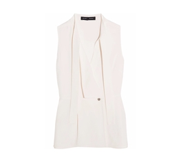 Crepe Wrap Top by Proenza Schouler in Suits