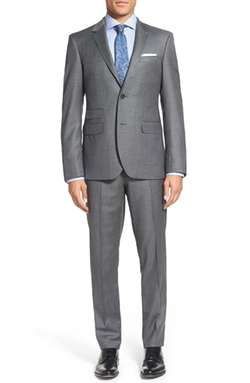 'Claymore' Trim Fit Wool Suit by Strong Suit in Quantico