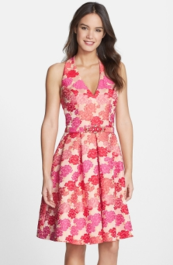 Embellished Jacquard Fit & Flare Dress by Eliza J in Mean Girls