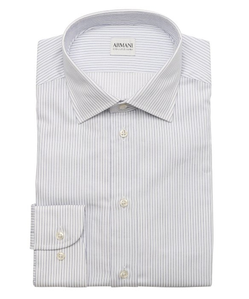 Pinstriped Cotton Dress Shirt by Armani in Begin Again