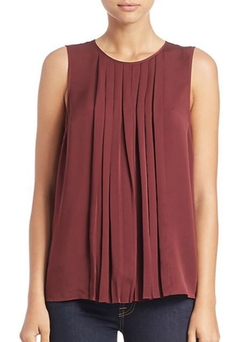 Pleated Silk Top by Michael Michael Kors in Jessica Jones