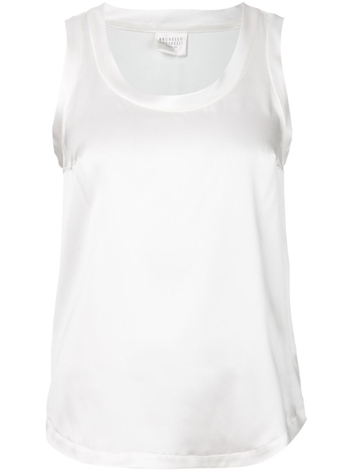 Scoop Neck Tank Top by Brunello Cucinelli in Pretty Little Liars - Season 6 Episode 5