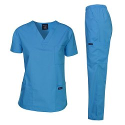 Women's Medical Scrub Top by Dagacci Medical Uniform in If I Stay