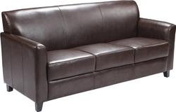 Hercules Diplomat Series Brown Leather Sofa by Flash Furniture in The Other Woman