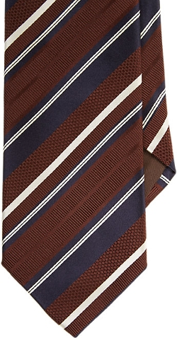 Mixed-Stripe Jacquard Neck Tie by Bigi in The D Train