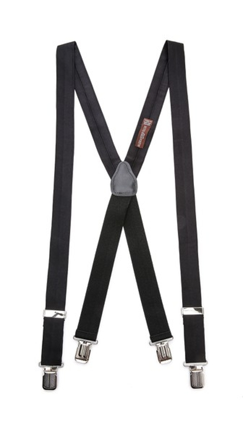 Solid Silk Satin Suspenders by Alexander Olch in Ant-Man