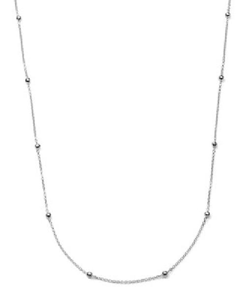 "Sterling Silver Mini Hammered Ball Necklace, 50"" by Ippolita in Sabotage"