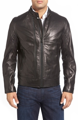 Vince Windsor Lambskin Leather Racer Jacket by Andrew Marc in How To Get Away With Murder