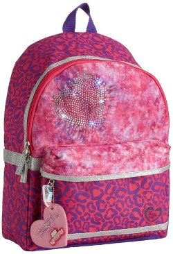Leopard Heart Light-Up Backpack by Skechers in Black or White
