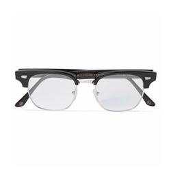 Square-Frame Acetate And Silver-Tone Optical Glasses by Kingsman + Cutler & Gross in Kingsman: The Secret Service