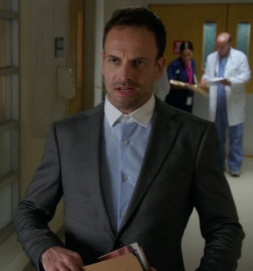 Custom Made Contrast Collar Dress Shirt by Cego in Elementary - Season 4 Episode 8