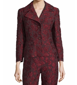 3/4-Sleeve Two-Button Jacquard Jacket by Escada in The Good Fight