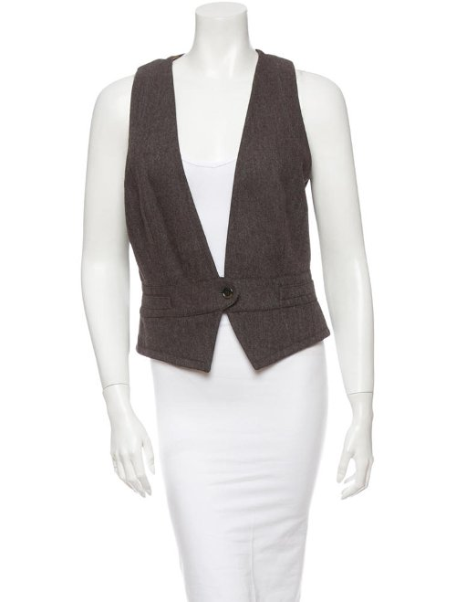 One Button V-Cut Vest by Dolce & Gabbana in The Counselor