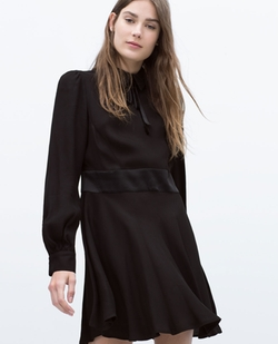 Flared Dress With Collar And Bow by Zara in Pretty Little Liars