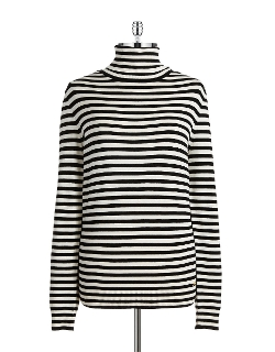 Striped Turtleneck Sweater by Calvin Klein in The Visit