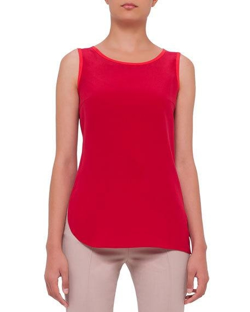Sleeveless Contrast-Trim Blouse by Akris Punto in Why Him?