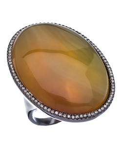 Agate Cocktail Ring by Madison Precious Jewels in American Horror Story