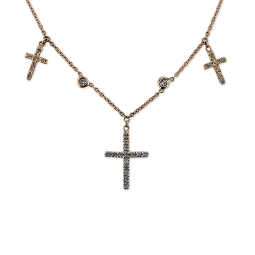 Triple Cross Choker by Jacquie Aiche in Keeping Up With The Kardashians - Season 12 Episode 17