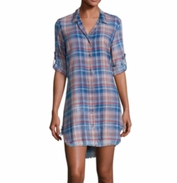 Frayed Hem Plaid Shirtdress by Bella Dahl in Me and Earl and the Dying Girl