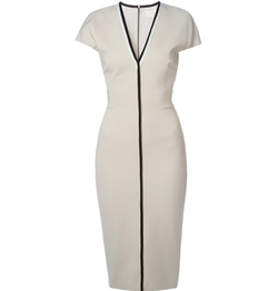 Contrast Trim V-Neck Dress by Victoria Beckham in Girls Trip