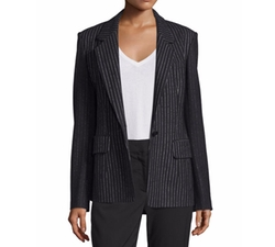 Striped Wool-Blend Jacket by DKNY in Miss Sloane