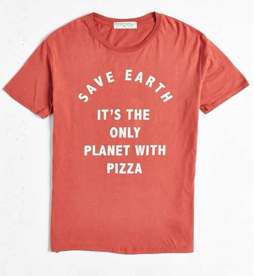 Save Earth Pizza Tee by Project Social T in The Flash - Season 2 Episode 23