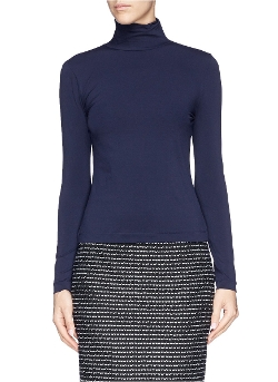 Turtleneck Jersey Sweater by St. John in Before I Wake