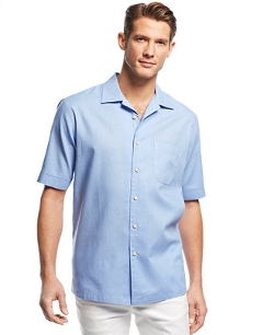 Solid Short-Sleeve Shirt by Tasso Elba in Cut Bank
