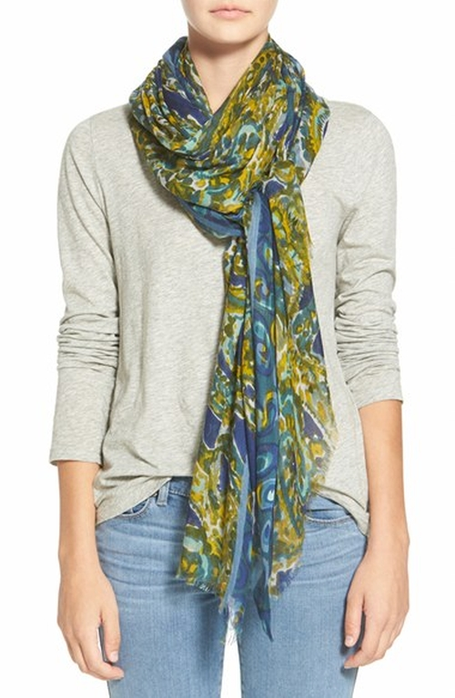 Paisley Print Modal & Silk Scarf by Halogen in Christmas Vacation