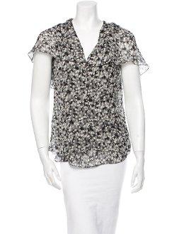 Silk Short Sleeve Top by Carolina Herrera in Begin Again
