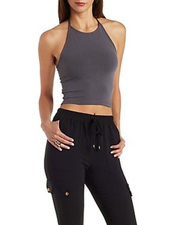 Cropped Halter Top by Charlotte Russe in Keeping Up With The Kardashians