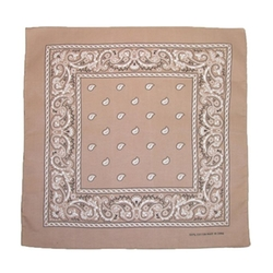 Unisex Cotton Paisley Bandana by Ctm in The Big Lebowski