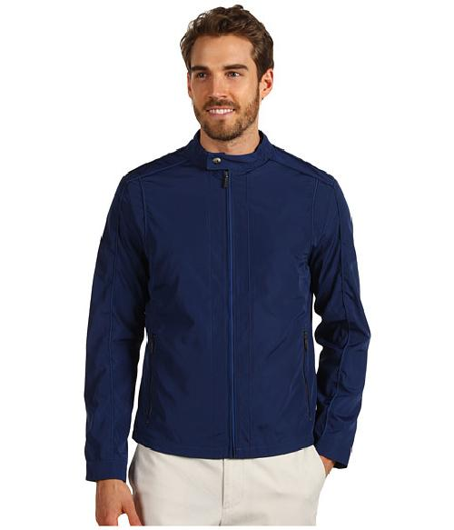 Full Zip Logo Moto Jacket by Calvin Klein in Blended