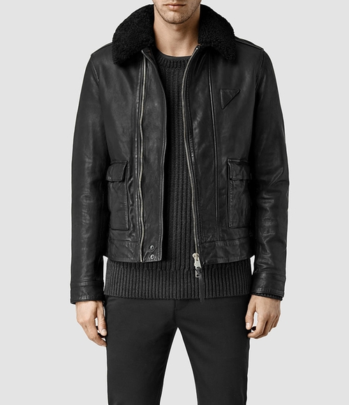 Gate Leather Biker Jacket by AllSaints in Star Trek Beyond