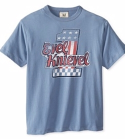 Men's Evel Knievel T-Shirt by Tailgate Clothing Company in The Accountant