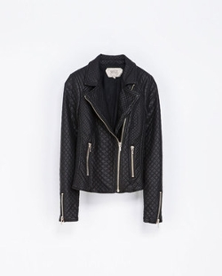 Faux Leather Quilted Biker Jacket by Zara in Vampire Academy