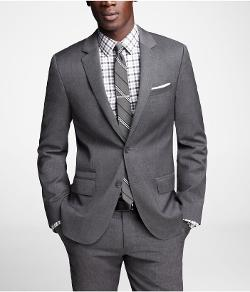 Stretch Wool Photographer Suit Jacket by Express in And So It Goes