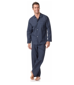 Men's Check Shirt and Pants Pajama Set by Club Room in Why Him?