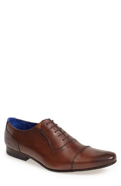 Cap Toe Oxford Shoes by Ted Baker London in Black or White