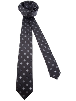 Contrast Printed Tie by Dolce & Gabanna in Suits