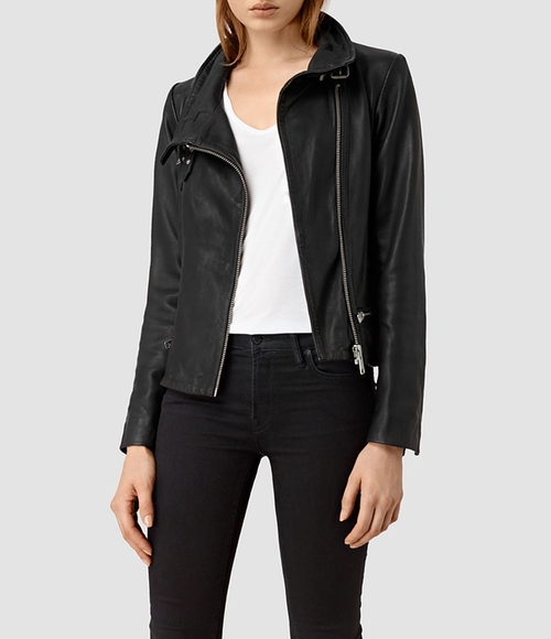 Bales Leather Biker Jacket by All Saints in Mistresses - Season 4 Episode 11
