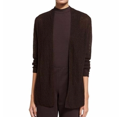 Organic Linen Knit Shaped Cardigan by Eileen Fisher in Modern Family