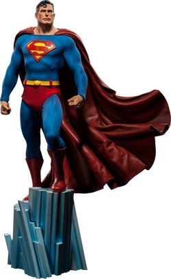 Superman Premium Format Figure by Sideshow Collectibles in The Big Bang Theory