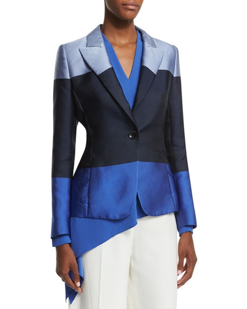One-Button Colorblock Jacket by Escada in Mistresses - Season 4 Episode 5