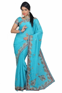 Embellished Designer Saree by VinHem Fashion in The Mindy Project