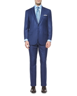 Super 150s Micro-Check Two-Piece Suit by Brioni in Suits